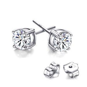 Jewelry - ✨LAST PAIR✨925 Sterling Silver Crystal A+ Quality